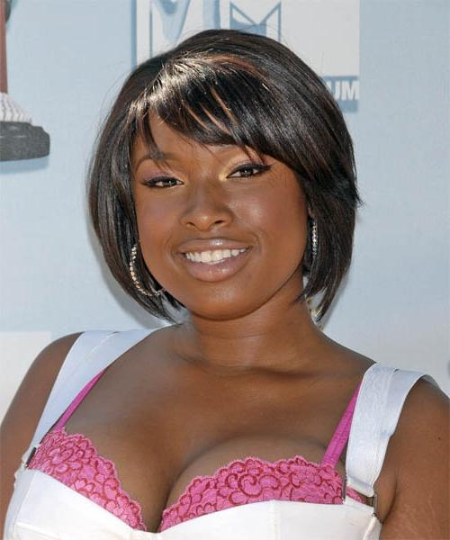 Jennifer Hudson Medium Straight Casual Hairstyle With Well Known Jennifer Hudson Bob Hairstyles (View 10 of 15)