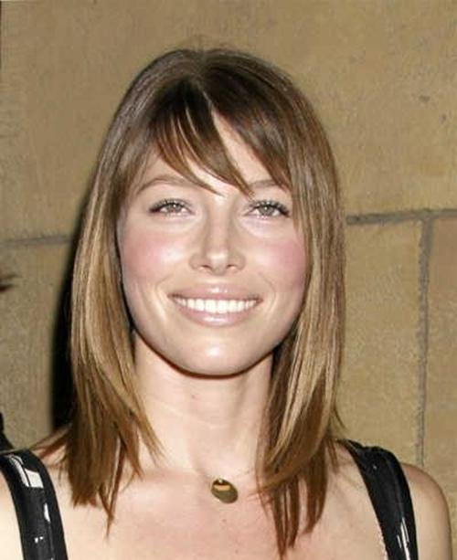 Jessica Biel Shoulder Length Soft Brown Bob Hairstyle – New Within Most Recent Jessica Biel Shoulder Length Bob Hairstyles (View 7 of 15)