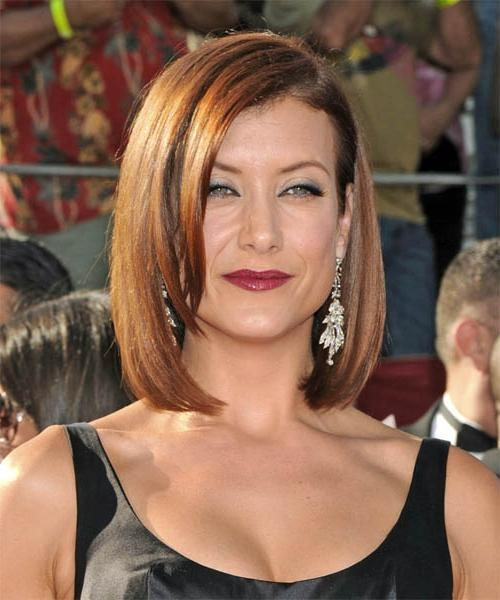 Kate Walsh Medium Straight Formal Hairstyle Regarding 2017 Kate Walsh Shoulder Length Bob Haircuts (Gallery 6 of 15)