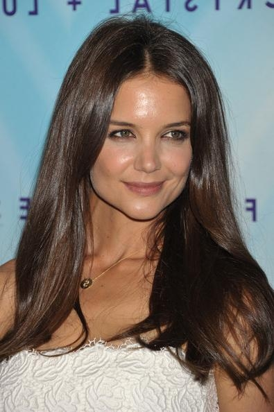 Katie Holmes Long Center Part – Long Hairstyles Lookbook – Stylebistro Pertaining To Katie Holmes Long Hairstyles (View 8 of 15)