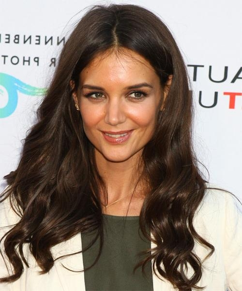 Katie Holmes Long Wavy Casual Hairstyle (Mocha) Intended For Katie Holmes Long Hairstyles (Gallery 4 of 15)