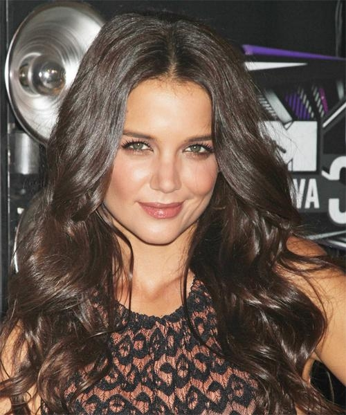 Katie Holmes Long Wavy Formal Hairstyle – Dark Brunette (Chocolate For Katie Holmes Long Hairstyles (View 12 of 15)