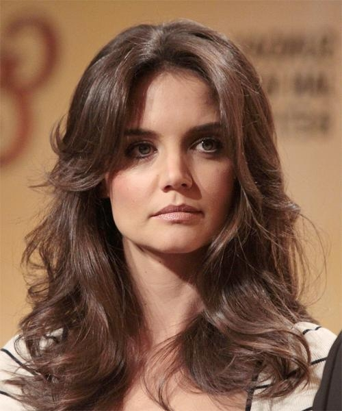 Katie Holmes Long Wavy Formal Hairstyle For Katie Holmes Long Hairstyles (View 13 of 15)