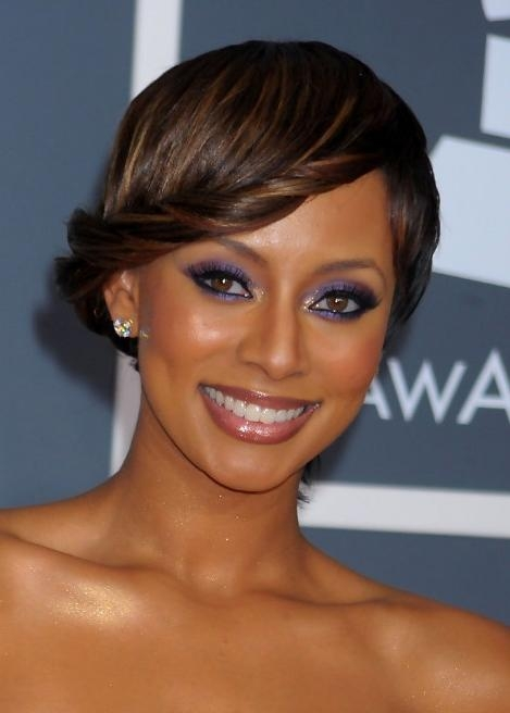 Keri Hilson Stylish French Twist Updo Hairstyle – Hairstyles Weekly For Keri Hilson Long Hairstyles (Gallery 11 of 15)