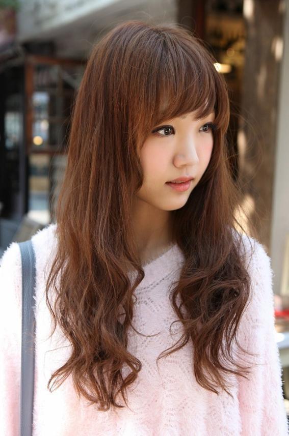 Korean Girls Long Hairstyle – Hairstyles Weekly Throughout Korean Long Hairstyles (View 8 of 15)