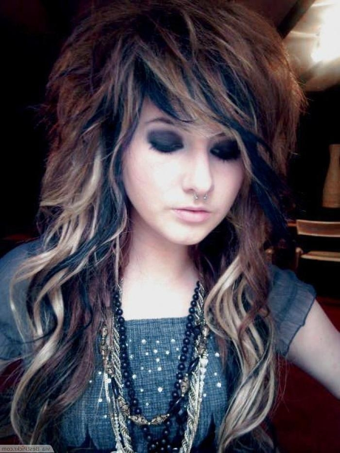 Latest Emo Long Hairstyles Regarding 10 Cute Long Emo Hairstyles For Girls In 2017 | Bestpickr (View 10 of 15)