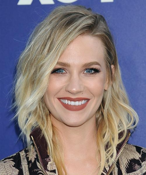 Latest January Jones Shoulder Length Bob Hairstyles Intended For January Jones Hairstyles For  (View 11 of 15)