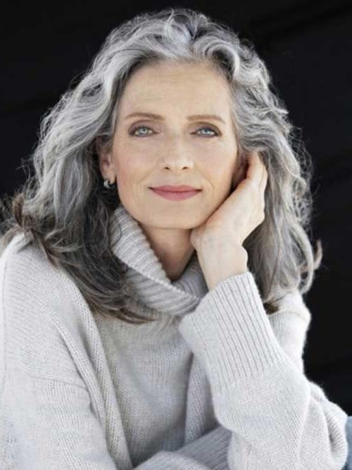 Latest Long Hairstyles For Grey Haired Woman Inside Best 25+ Grey Hair Styles Ideas On Pinterest | Where Does Grey (View 7 of 15)