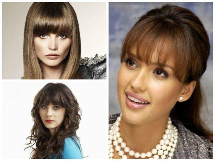 Latest Long Hairstyles With Bangs For Oval Faces In Best 25+ Bangs For Oval Faces Ideas On Pinterest | Hairstyles For (View 7 of 15)