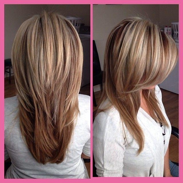 Latest Long Hairstyles With Layers And Highlights Pertaining To 16 Great Layered Hairstyles For Straight Hair 2017 – Pretty Designs (View 3 of 15)