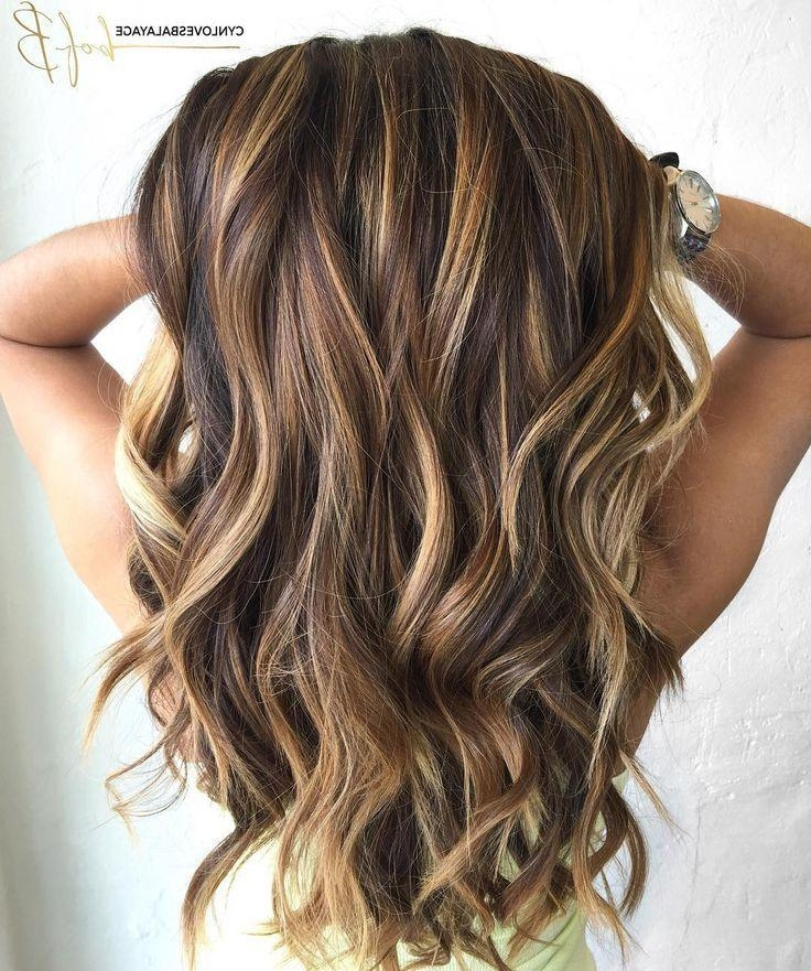 Latest Long Hairstyles With Layers And Highlights Throughout Best 25+ Long Hair Highlights Ideas On Pinterest | Caramel Hair (View 4 of 15)
