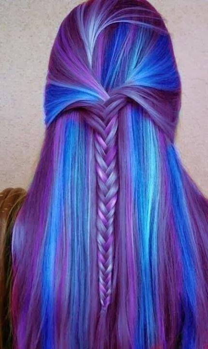 Latest Purple Long Hairstyles With Cute Hairstyles For Long Straight Hair – Popular Haircuts (View 5 of 15)