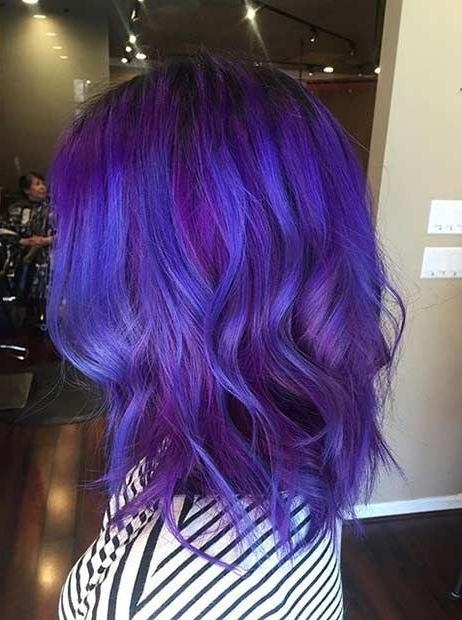 Latest Purple Long Hairstyles With Regard To Best 25+ Purple Hair Styles Ideas On Pinterest | Bright Hair (View 6 of 15)