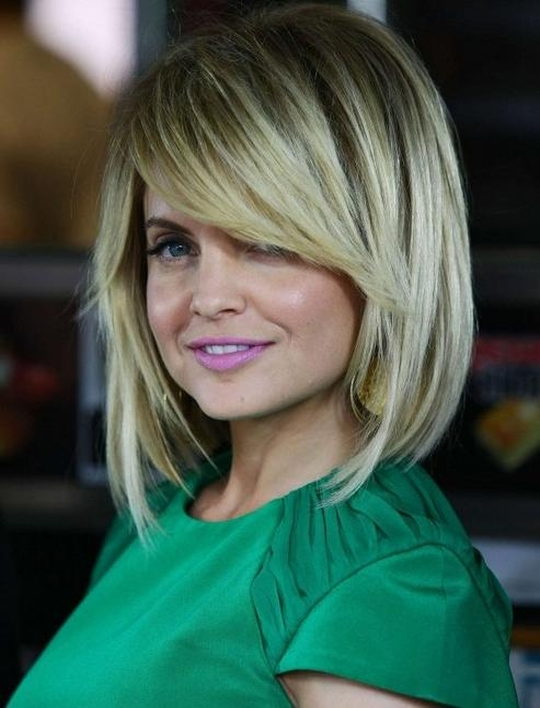 Photo Gallery of Medium Bob Hairstyles With Side Bangs (Viewing 5 ...