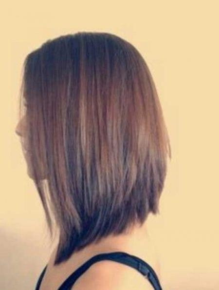 Long Angled Bob Haircut Back View (View 3 of 15)