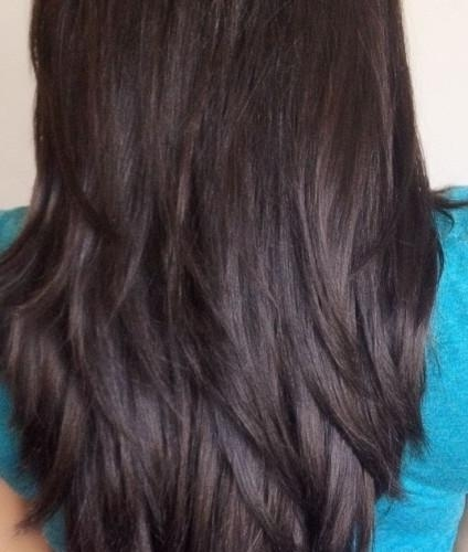 Long Fringe Haircut – Popular Long Hairstyle Idea Inside Long Hairstyles From Behind (View 9 of 15)