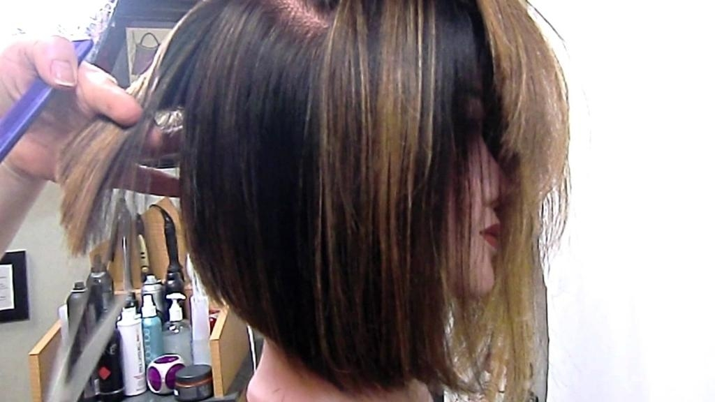 Long Layered Haircuts From Behind Angled Bob Graduated And With Regard To Long Hairstyles From Behind (View 11 of 15)