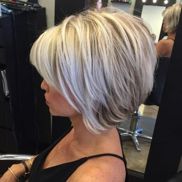 Longer Bob Intended For Popular Layered Inverted Bob Haircut (View 10 of 15)