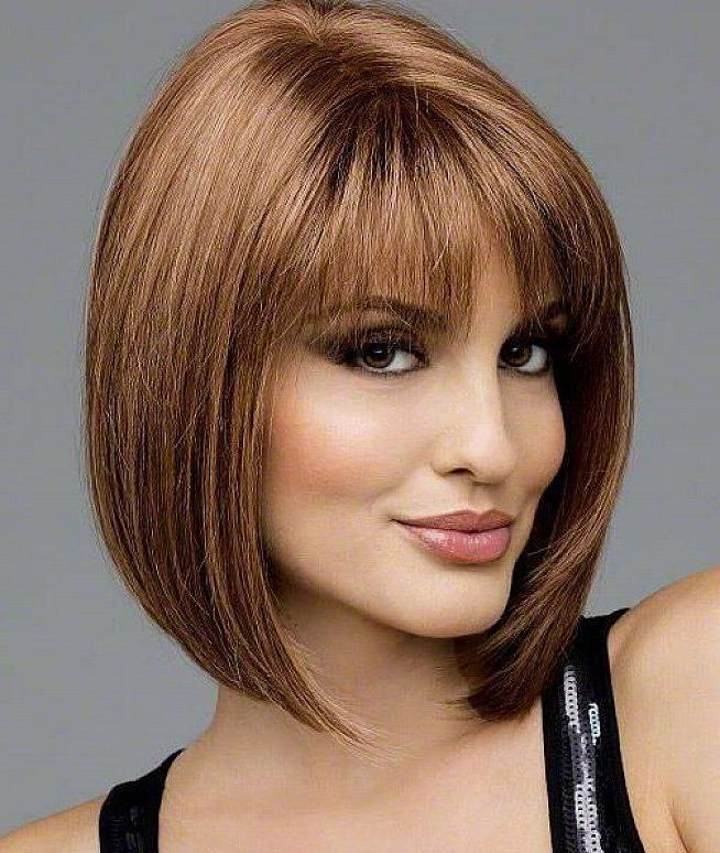 Medium Bob Hairstyles With Bangs – Billedstrom For Popular Medium Bob Hairstyles With Bangs (View 7 of 15)
