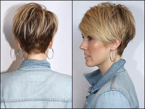 Medium Hair Pertaining To Well Known Short Pixie Bob Hairstyles (View 8 of 15)