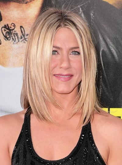 Photo Gallery Of Jennifer Aniston Long Layered Bob Hairstyles