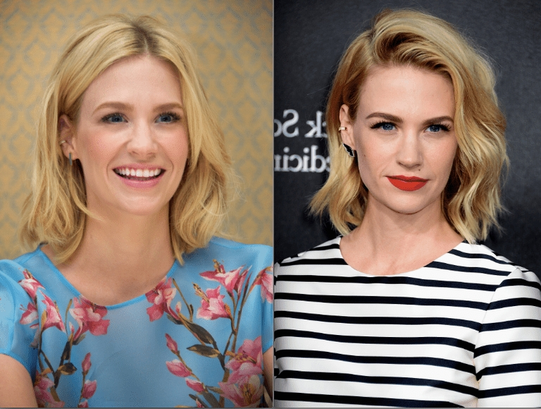 Medium Length Hairdos Perfect For Thick Or Thin Hair With Well Known January Jones Shoulder Length Bob Hairstyles (View 12 of 15)