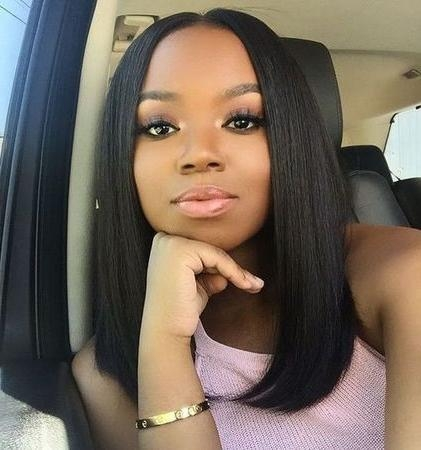 Most Current Long Haircuts For Black Women Intended For 20+ Stunning Bob Haircuts And Hairstyles For Black Women – Hairiz (View 13 of 15)