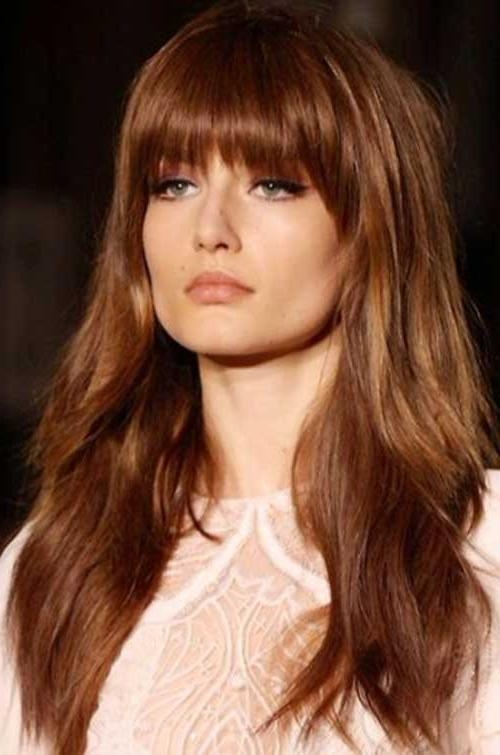 Most Current Long Haircuts Layered With Bangs Within Long Layers Hair With Blunt Bangs | Long Hairstyles 2017 & Long (View 9 of 15)