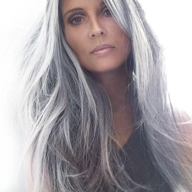 Most Current Long Hairstyles For Grey Haired Woman Regarding Best 25+ Long Gray Hair Ideas On Pinterest | Long Silver Hair (View 9 of 15)