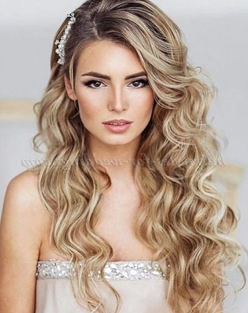 hair down wedding styles 15 best collection of hairstyles for weddings hair 1216