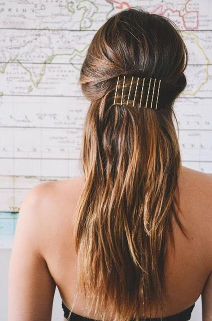 Most Current Long Hairstyles With Bobby Pins Throughout Best 25+ Bobby Pin Hairstyles Ideas On Pinterest | Bobby Pins (View 9 of 15)