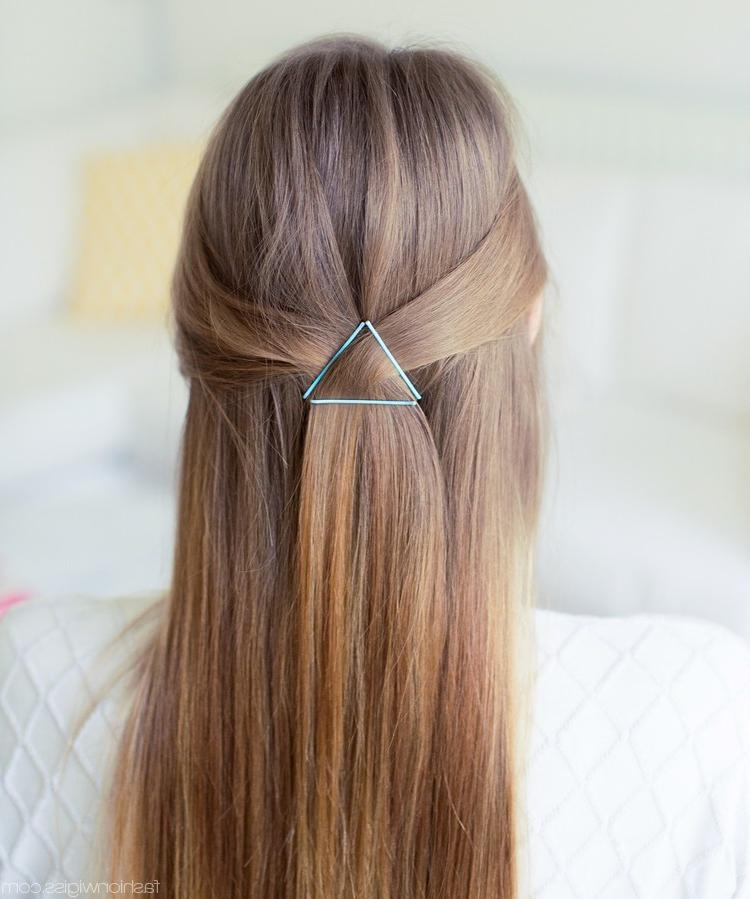 Most Current Long Hairstyles With Bobby Pins With New Half Updo Hairstyle Trends 2017 | Hairstyles 2017 New Haircuts (View 10 of 15)