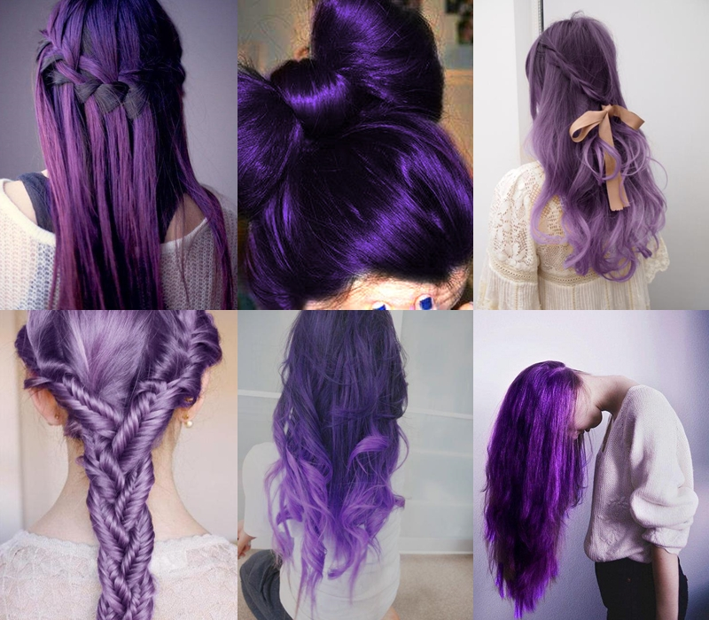 Most Current Purple Long Hairstyles Regarding Purple Hairstyles For Long Hair Pictures, Photos, And Images For (View 7 of 15)