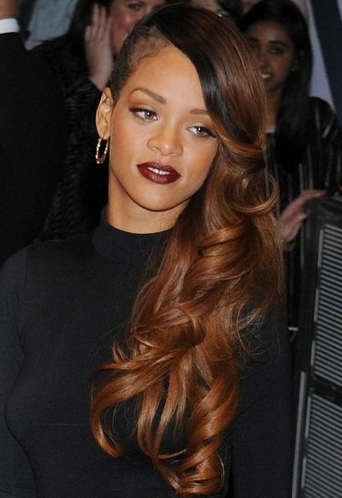 Most Current Rihanna Long Hairstyles For 15 Rihanna Hairstyles: Different Haircut – Popular Haircuts (View 5 of 15)