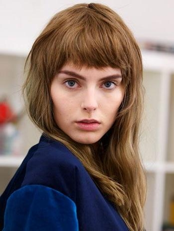 Most Current Short Bangs Long Hairstyles Regarding Grunge Bangs – Buscar Con Google | Pelo | Pinterest | Shorts (View 12 of 15)