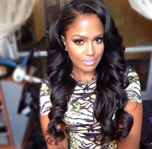 Most Popular Black Female Long Hairstyles Inside 8 Best Hairstyles Images On Pinterest | Hairstyles For Black Women (Gallery 1 of 15)