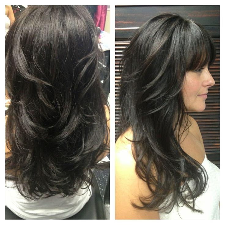 Most Popular Black Long Hairstyles With Bangs And Layers For Best 25+ Long Layered Bangs Ideas On Pinterest   Long Layers With (View 5 of 15)
