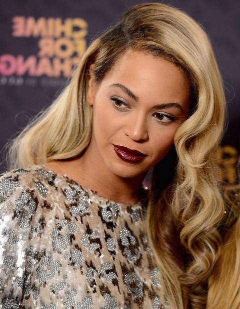 Most Popular Chic Long Hairstyles Intended For Beyonce Hairstyles: Retro Chic Long Side Parted Hairstyle – Pretty (View 9 of 15)