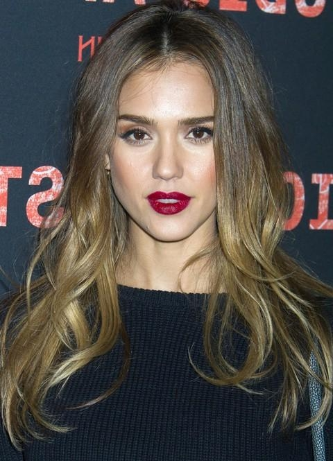 Most Popular Jessica Alba Long Hairstyles Regarding Jessica Alba Long Hairstyles: Ombre Loose Curls For All Face (View 5 of 15)