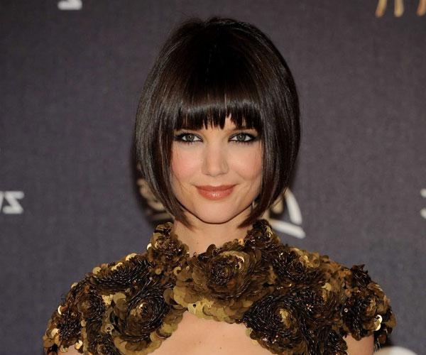 Most Popular Katie Holmes Short Bob Hairstyles With Regard To 30 Breathtaking Katie Holmes Hairstyles – Slodive (View 10 of 15)