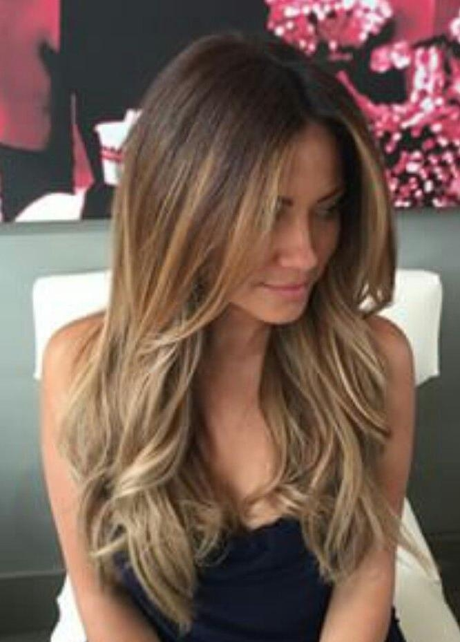 Most Popular Long Hairstyles Brunette Layers Pertaining To Best 25+ Brunette Long Layers Ideas On Pinterest | Long Length (View 7 of 15)