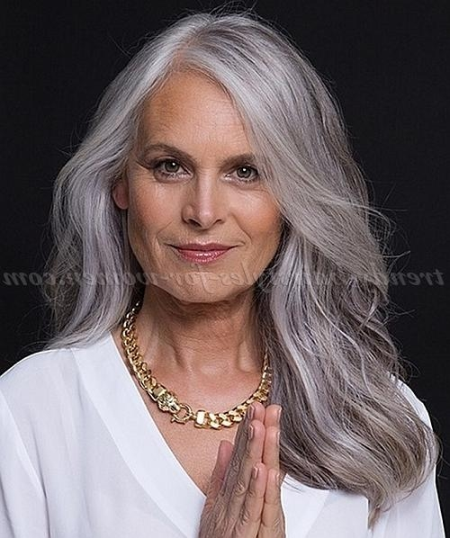 Most Popular Long Hairstyles For Grey Hair Intended For Long Hairstyles Over 50 – Long Hairstyle For Grey Hair | Trendy (View 7 of 15)