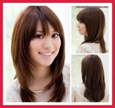 Most Popular Long Hairstyles For Round Chubby Faces For Long Hairstyles For Round Chubby Faces With Regard To Aspiration (View 6 of 15)