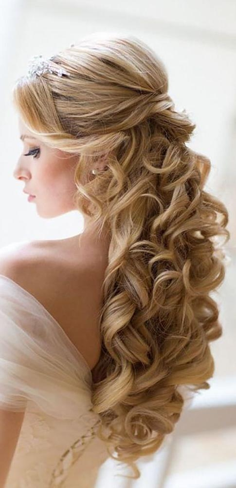 Most Popular Long Hairstyles For Weddings Hair Down With Regard To Best 25+ Half Up Wedding Hair Ideas On Pinterest | Bridal Hair (View 9 of 15)