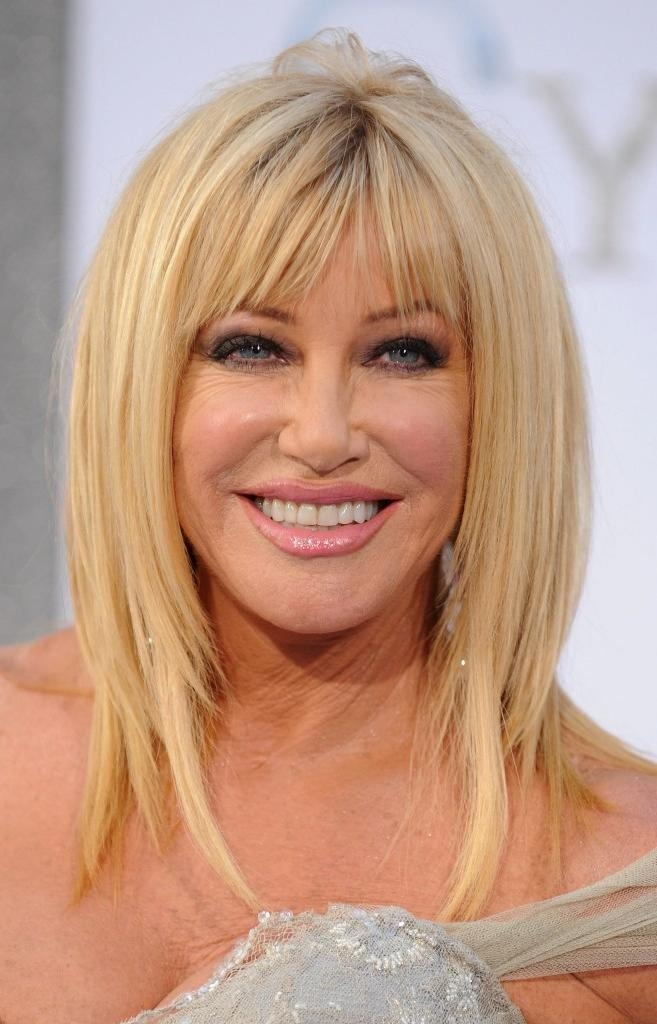 Most Popular Long Hairstyles For Women Over 40 With Bangs Pertaining To 11 Best Hairstyles For Women Over 50 And 40 Years Women With Bangs (View 10 of 15)