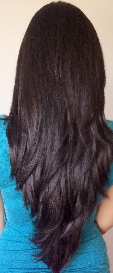 Most Popular Long Hairstyles Front And Back View Inside Best 25+ Long Layered Haircuts Ideas On Pinterest | Long Layered (View 11 of 15)
