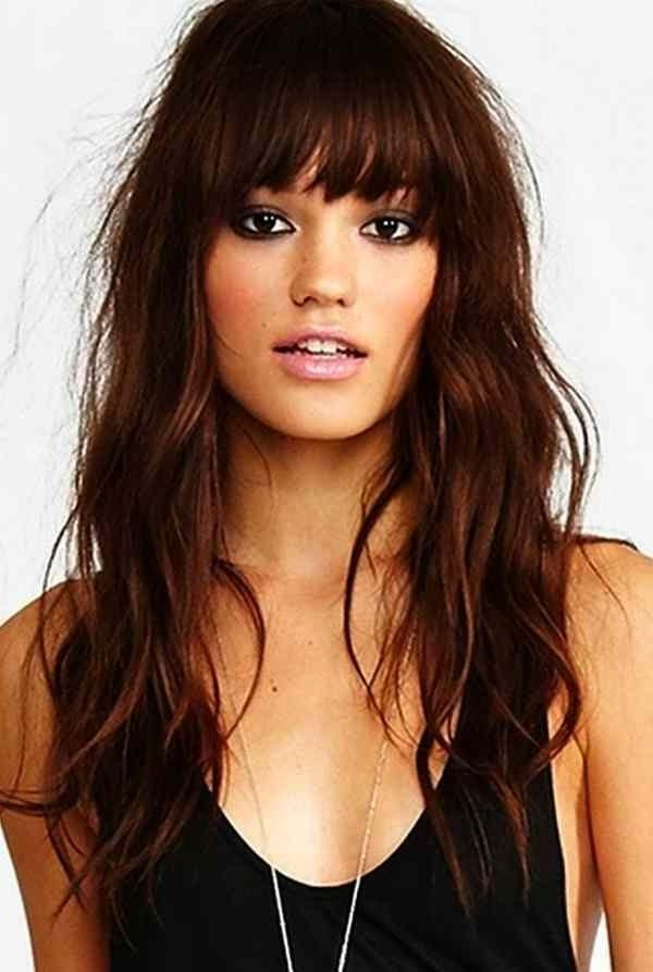 Most Popular Long Hairstyles With Bangs For Oval Faces With Regard To Best 25+ Bangs For Oval Faces Ideas On Pinterest | Hairstyles For (View 10 of 15)