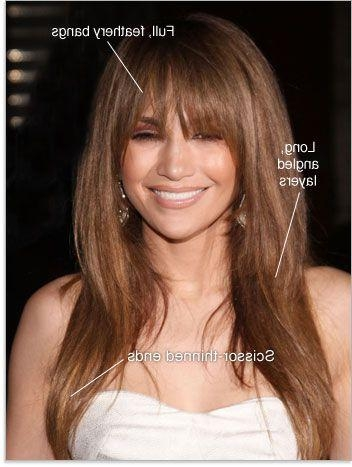 Featured Photo of Long Hairstyles With Full Fringe