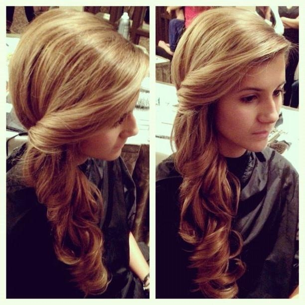 Most Popular One Side Long Hairstyles Pertaining To Best 25+ Side Swept Hairstyles Ideas On Pinterest | Side Hair (View 12 of 15)