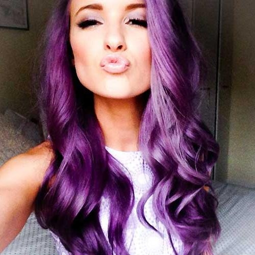 Most Popular Purple Long Hairstyles For 25+ Best Purple Hair Colors | Long Hairstyles 2017 & Long Haircuts (View 8 of 15)